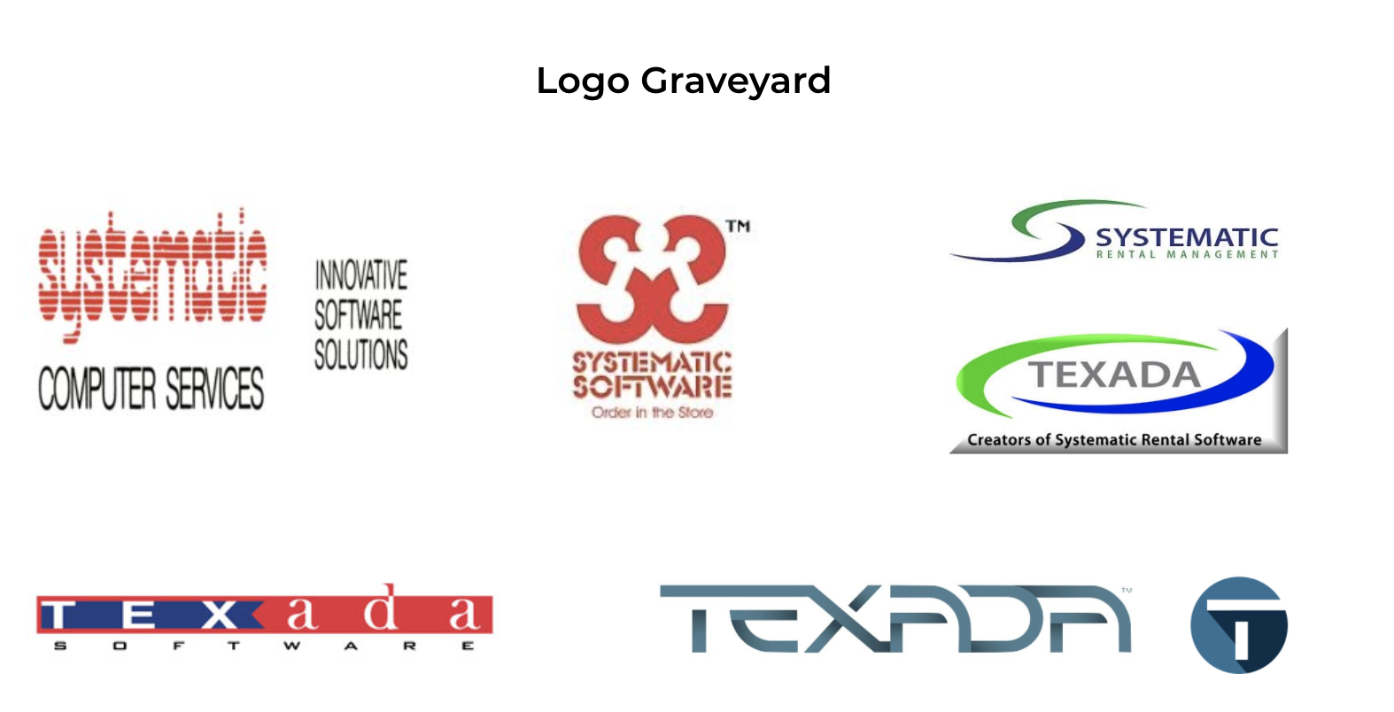 Texada and Systematic Retired Logos